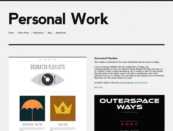 Personal Workページのキャプチャ