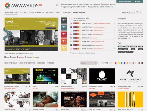 AWWWARDSサイトのイメージ